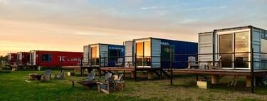 ¿Te quedarías en un hotel hecho con contenedores?  Ésta es la propuesta de Flophouze Hotel y nos encanta