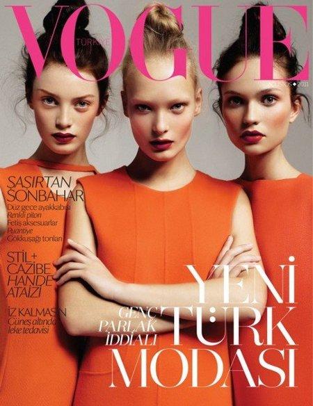 Naranja y rojo en la portada de Vogue Turquía, ¿te atreves?