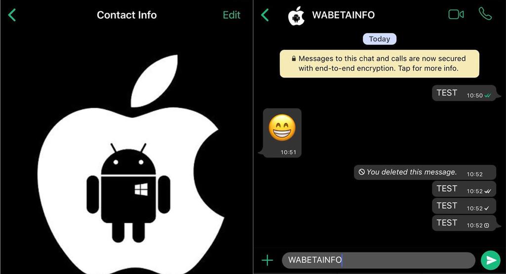 WhatsApp would be working in a dark mode