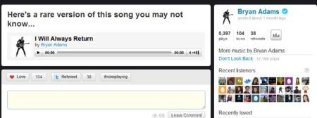 Reprodución de canciones en twitmusic