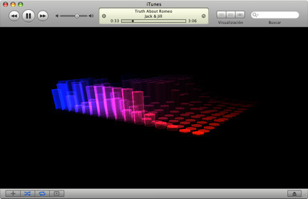 NastyFFT, un bonito visualizador para iTunes