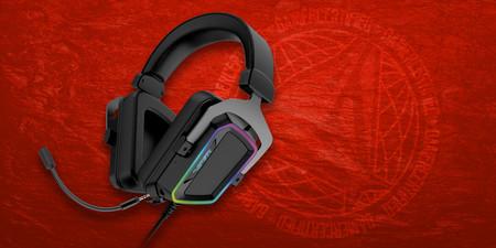 Estos auriculares V380 de Patriot quieren conquistar a los más jugones con su sonido envolvente 7.1 y luces RGB