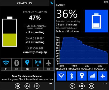 Battery, portada de las aplicaciones