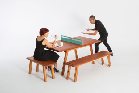 Playplay L W Journey East Collection 7 Pong Dining Ping Pong Table