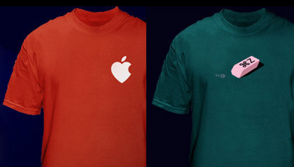 Camisetas de temática Mac