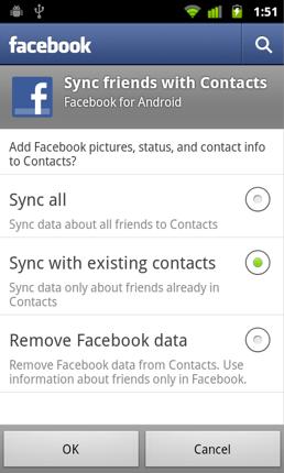 Google deshabilita en Nexus S la sincronización de contactos Facebook con la agenda del teléfono