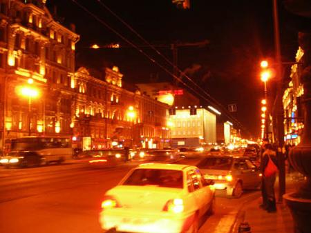 Nevsky Prospekt de noche