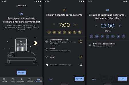 Google Reloj Descanso