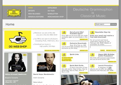 Deutsche Grammophon lanza un tienda de música clásica sin DRM