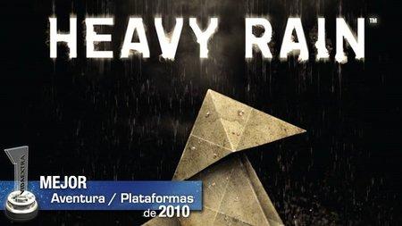 Mejor juego de aventura y plataformas del 2010: 'Heavy Rain'