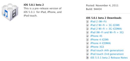 Apple envía iOS 5.0.1 beta 2 a los desarrolladores
