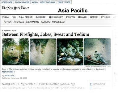 Fotografía de guerra con iPhone en el NY Times