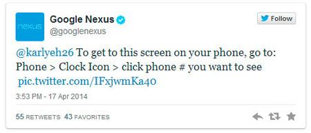 Google Nexus - Nuevo marcador telefónico Android