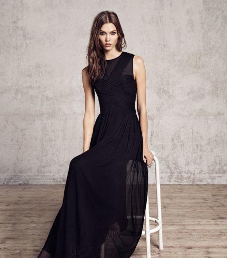 Vestido negro largo de fiesta