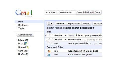Novedades en Gmail: nueva interfaz para informar de errores y búsqueda unificada entre correo, documentos y sitios