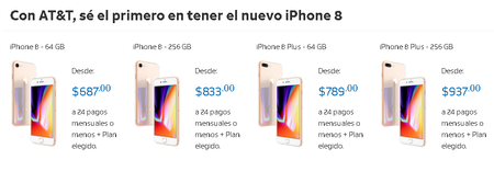 Iphone 8 Plus Preventa Att Mexico