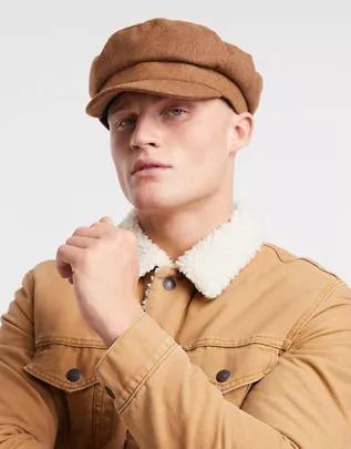 Gorra de estilo baker boy marinero de melton de ASOS DESIGN