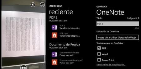 Office Lens ahora guarda documentos escaneados en formato PDF