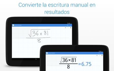 MyScript Calculator 1.2 para Android, ahora con nueva inferfaz y más opciones