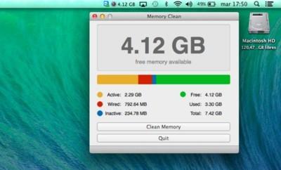 Memory Clean, una sencilla aplicación para controlar la memoria de tu Mac