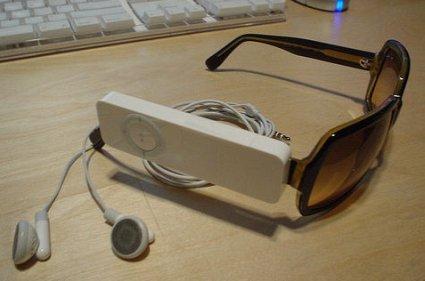 Diseño rompedor, iPod Shuffle con gafas