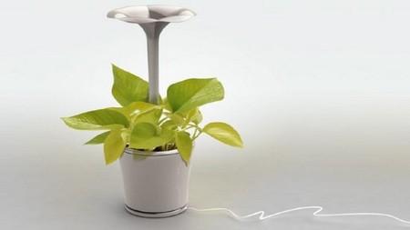 Conceptos innovadores para el hogar inteligente: Altavoces para que las plantas crezcan felices
