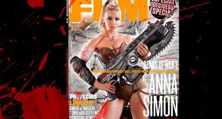 Anna Simón + 'Gears of War 3' = Cerebro de jugón fundido