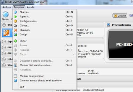 Virtualbox 4.2 administración de máquinas virtuales