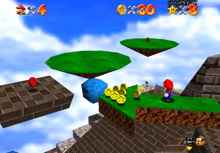 Super Mario 64: cómo conseguir la estrella Red Coins on the Floating Isle de Whomp's Fortress