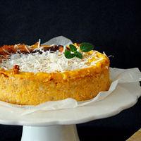 Pastel de calabaza y queso Parmesano, receta de otoño