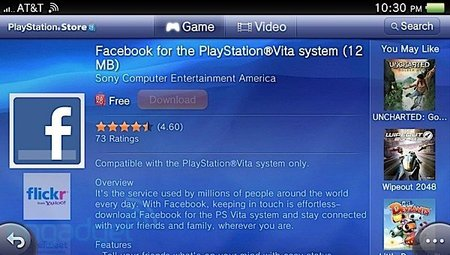 Facebook para PS Vita disponible otra vez