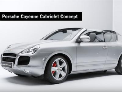 Top 5 de autos concepto de Porsche. Sí, hubo un Cayenne convertible...