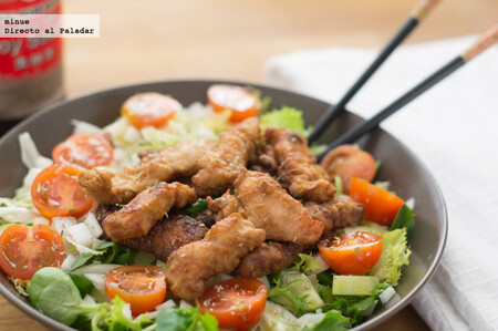 Ensalada de pavo al estilo japonés, receta de inspiración oriental