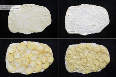 Flatbread de patata. Pasos