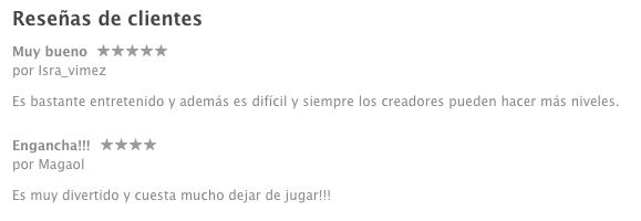 reseñas clientes app store apple