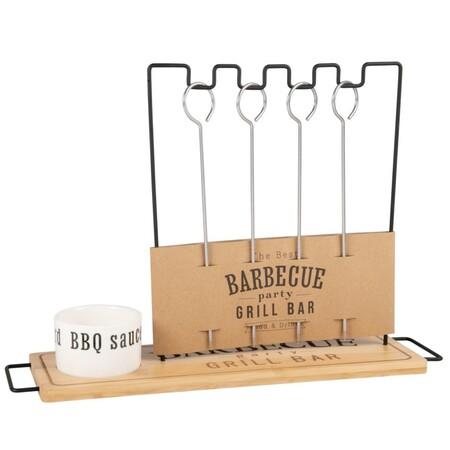 Portabrochetas De Barbacoa Con Cuenco Para Salsa De Porcelana 1000 14 20 213466 1