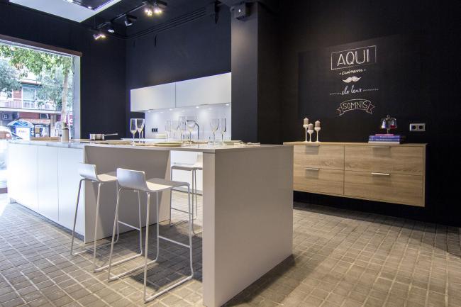 Nuevo showroom para ver y para probar las cocinas de SANTOS en Barcelona
