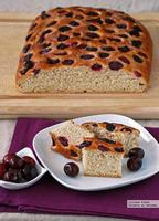 Schiacciata de cerezas. Receta de panadería