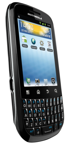Motorola FIRE, an Android with QWERTY Now on Vodafone from 0 Euros