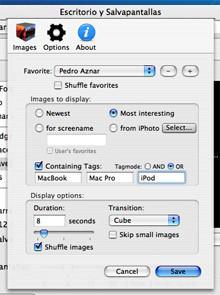 ShuffleSaver: Salvapantallas con imágenes desde Flickr