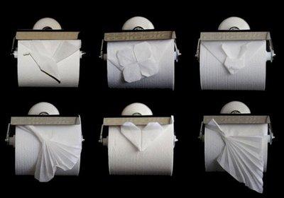 Papiroflexia con el papel higiénico