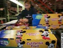 Los personajes de Disney en las frutas