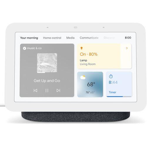 "Pantalla inteligente con Asistente de Google - Google Nest Hub (2 Gen), 7"", Micrófono, WiFi, Bluetooth"