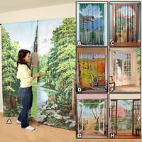 Una mala idea: cortinas con paisajes
