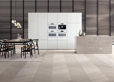 Electrodomésticos sin tirador, una solución estética para integrar cocina y salón en el mismo espacio