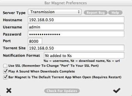 Bar Magnet permite gestionar archivos torrent en servidores locales o remotos