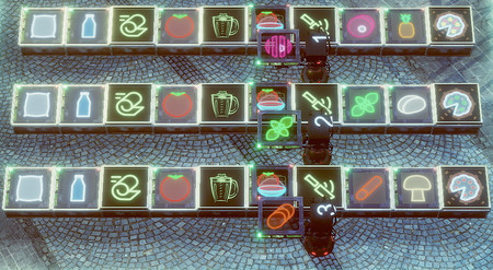 Hemos jugado a Neon Noodles: el juego de puzles que cambia la cocina tradicional por una fábrica de robots cyberpunk
