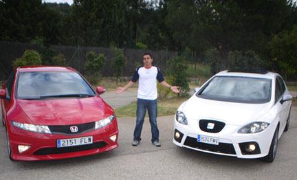 Comparativa: Honda Civic Type-R contra SEAT León FR (parte 1)