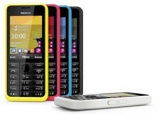 Nokia 301, colores