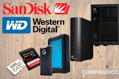 Rebajas en servidores NAS, discos duros de sobremesa y portables o tarjetas de memoria en las ofertas en almacenamiento Western Digital y SanDisk de la semana en Amazon